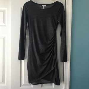 Leith Ruched Slate Grey Dress